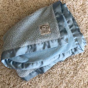 Little giraffe baby blue plush soft blanket